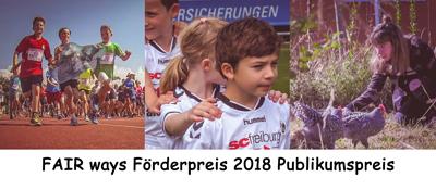 FAIRways Förderpreis 2018 Publikumspreis
