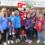 Inklusionskicker als Einlauf-Kids beim SC Freiburg
